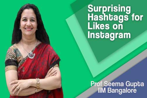 Surprising hashtags for likes on Instagram