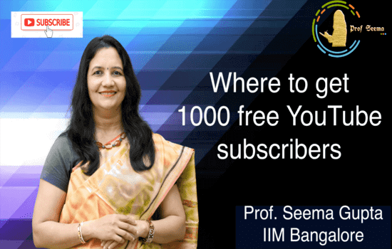 Where to get 1000 free YouTube subscribers